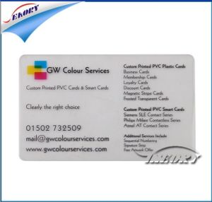 Seaory Supply Cheap Price Printed Transparent PVC Business Card pictures & photos