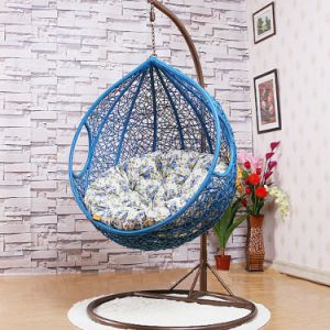 Popular Cheap Price Chair Rattan Hanging Egg Rattan Swing (D011) pictures & photos