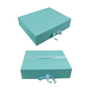 Blue Color Printing Custom Logo Cosmetic Paper Box pictures & photos