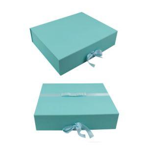 Blue Color Printing Custom Logo Cosmetic Paper Box