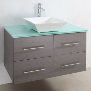 Hot Painting MDF Bathroom Cabinet with Certificate (SW-8006) pictures & photos