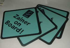 Personalised Car Signs (Zainer on Boards) pictures & photos