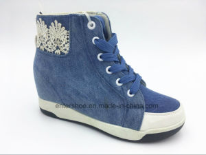 Casual Canvas Hidden Heel Lady Shoes (ET-XK160231W) pictures & photos