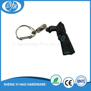 Black Plating Metal Keychain with Printing Backing Card pictures & photos