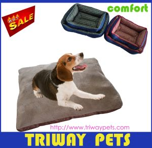 Soft Flannel & Printed Fabric Pet Bed (WY161030) pictures & photos