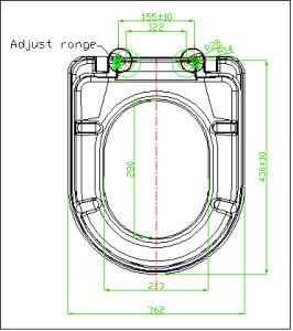 European Standard D Shape Restroom Seat pictures & photos