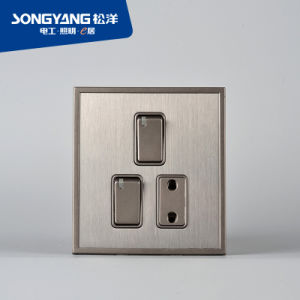 Stainless Steel Series 2gang&1socket Switch pictures & photos