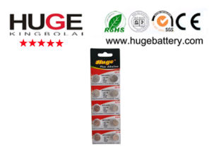 1.5V Mercury Free Blister Pack Alkaline Button Cell Battery (AG10) pictures & photos