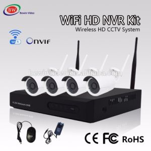 H. 264 4CH HD WiFi NVR Kit Wireless Outdoor Camera Home Security System