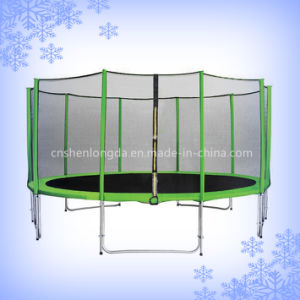 Hot Selling 15FT Bungee Trampoline with Safety Net, Backyard Trampoline pictures & photos