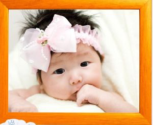Baby Plum Bow Lace Hair Band, Children Baby Hair Accessories, Korean Baby Headband