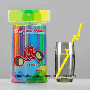 Double Bending Art Drinking Straw pictures & photos