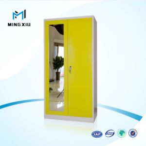 Mingxiu High Quality 2 Door Metal Storage Cabinet / Elegant Metal Wardrobe with 2 Doors pictures & photos