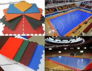 PP Suge and PVC Interlock Sports Football Court Floor pictures & photos