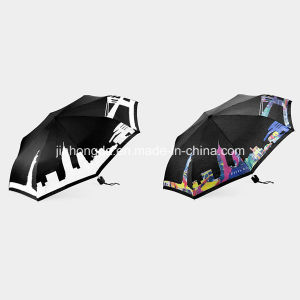 Color-Changeable When Wet Folding Umbrella (YSC0005) pictures & photos