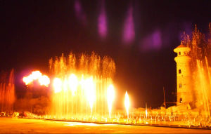 Large Music Dancing Fountain Project Combining with Laser Water Screen and Fire Show pictures & photos