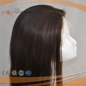 Exquisite 100% Human Hair Brown Color Front Lace Wigs pictures & photos