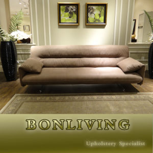 Comfortably Seated Nubuck Modern Nubuck Leater Sofa (B26) pictures & photos