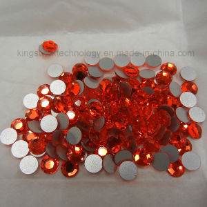 Ss6 (2.0mm) High Quality Crystal Flatback Rhinestones - 2028 Orange Red (Hyacinth 236) No Hotfix pictures & photos