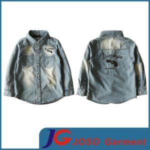 Factory Wholesale Denim Shirt for Kids (JT8020) pictures & photos