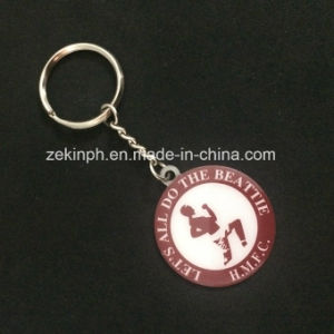 Cheap Promoitonal Souvenir Metal Keychain with Logo Printed pictures & photos