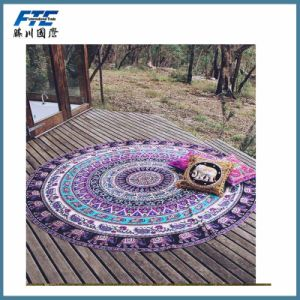 Wholesale Custom Big Stock Round Cotton Beach Towel pictures & photos