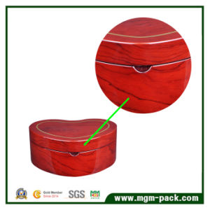 Heart-Shaped Storage Wooden Jewelry Box with Mirror pictures & photos