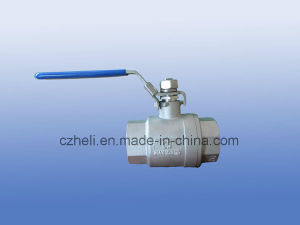 Dn8-Dn100 2 Piece Full Bore Ball Valve pictures & photos