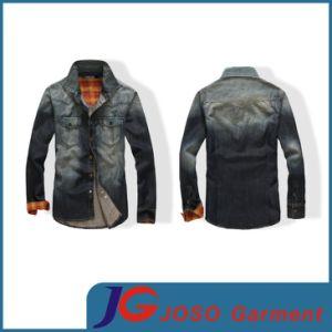 Long Sleeves Black Denim Men Shirt (JC7029) pictures & photos