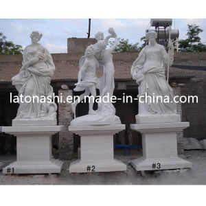 White Marble Art Figure Carving Sculpture / Statue for Garden, Landscape pictures & photos