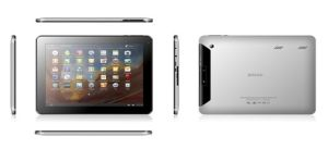 10′′ Tablet PC 4.3CPT, 1024*768, A10 Cortex A8@1GHz, 3D Speed, Android, DDR3 1g, Nandflash 4GB/8GB/16GB.