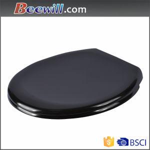 European Standard Black Color Quick Release Soft Close Toilet Seat pictures & photos