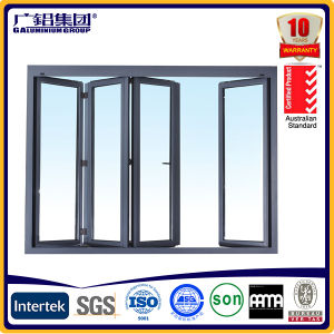 Residential Bi Fold Aluminium Windows Thermal Collapsible Windows pictures & photos