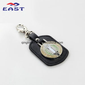 Promotion Novelty Printed Logo Coloring Leather Keyholder pictures & photos