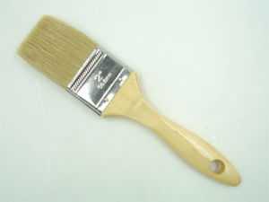 Featured White Bristle Brush with Varnished Wooden Handle pictures & photos