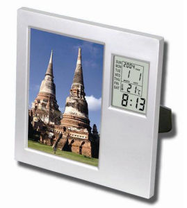 Table Digital Photo Frame Clock with Temperature pictures & photos