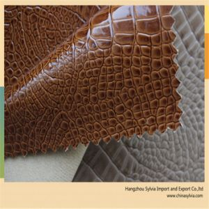 Environmental Alligator Leather for Lady Handbags pictures & photos