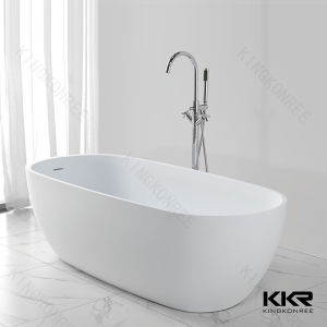 Modern Artificial Stone Acrylic Solid Surface Freestanding Bathtub pictures & photos