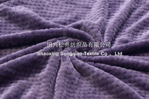 100% Polyester Jacquard Plain Flannel Blanket/ Honeycomb Plain Blanket pictures & photos