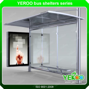 2017 Stainless Steel Structureb Bus Stop Shelter pictures & photos