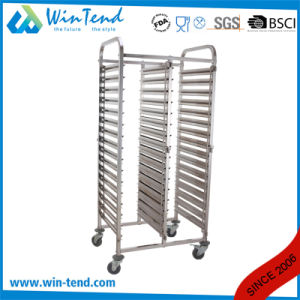 Full Size Dual Rows Gastronorm Pan Tray Trolley pictures & photos
