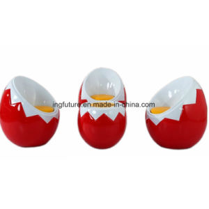 Novelty Red Fiber Glass Egg Chair Table Set pictures & photos