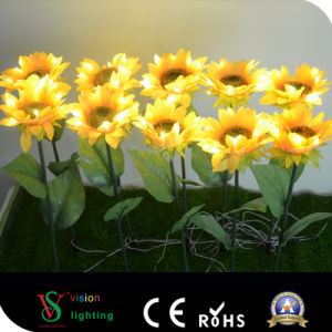 Outdoor Artificial Flower LED Sunflower for Garden pictures & photos