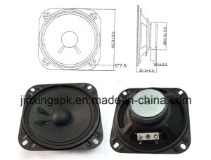 100mm 4-16ohm 1-5W Black Square Metal Speaker pictures & photos