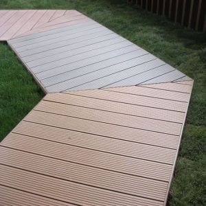 140*25mm WPC Hollow Decking Flooring Price of All Size with CE for Garden Swimming Pool pictures & photos