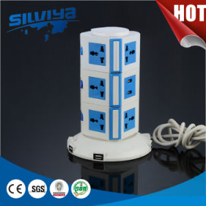New Design! 3 Layers Universal Extension Socket with USB Ports pictures & photos