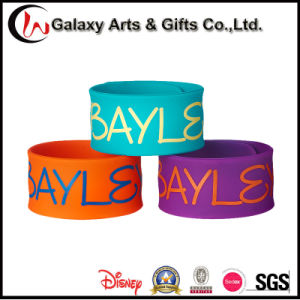 Quality Customized Colorful Silkscreen Printed Promotional Rubber Slap/Silicone Band