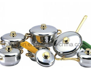 Gold Plating 12PCS Stainless Steel Kitchenware pictures & photos