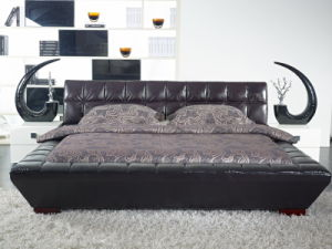 Foshan City Home Furniture Manufacturers King Size Soft Bed Headboard pictures & photos
