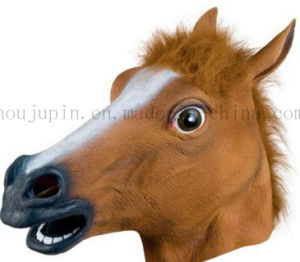Custom Plastic Horse Mask Toy for Halloween Masquerade Carnival pictures & photos
